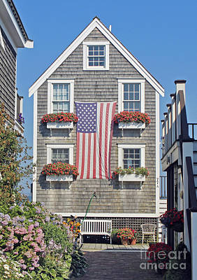 Art Print featuring the photograph American Harbor House by Sebastian Mathews Szewczyk