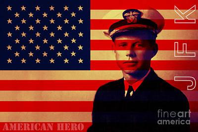 Photograph - American Hero John Fitzgerald Kennedy Jfk 20130610 by Wingsdomain Art and Photography