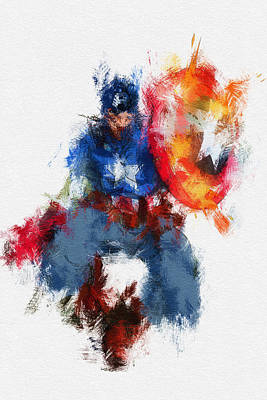 Nerdy Digital Art - American Hero by Miranda Sether