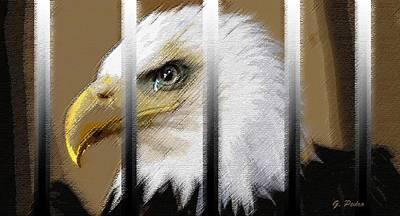Pastel - American Heroes Unjustly Behind Bars by George Pedro