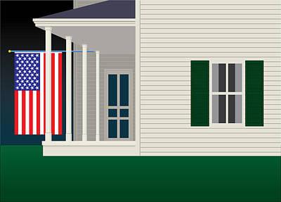 Contemporary Digital Art - American Home by Gary Grayson