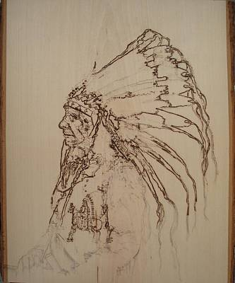 American Horse - Oglala Sioux Chief - 1880 Art Print by Sean Connolly