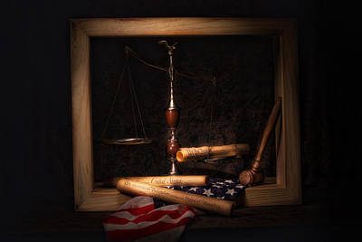 Stars And Stripes Photograph - American Ideals Still Life by Tom Mc Nemar