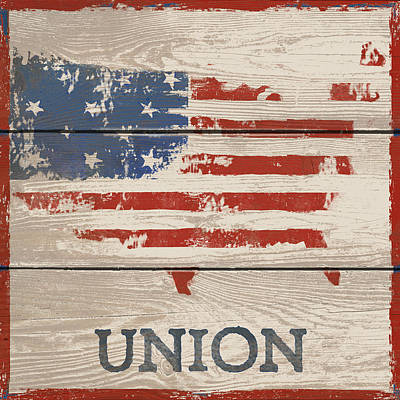 Stripe Drawing - American IIi - Union by Gail Fraser