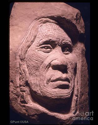 Chief Keokuk Sculpture - American-indian-portrait-1 by Gordon Punt
