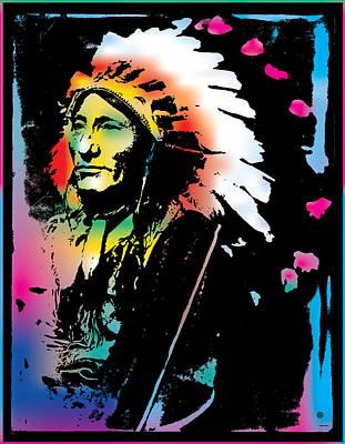 Digital Art - American Indian Silo by Gary Grayson