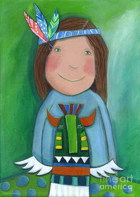 Crafts For Kids Painting - American Indian by Sonja Mengkowski