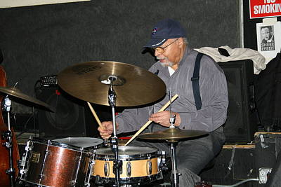 Photograph - American Jazz Drummer  Mr Jimmy Cobb by Paul SEQUENCE Ferguson             sequence dot net