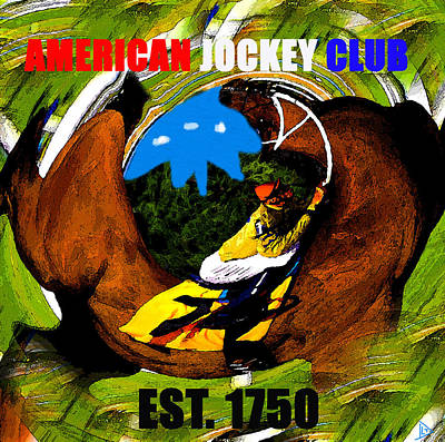 Horse Racing Painting - American Jockey Club 1750 by David Lee Thompson