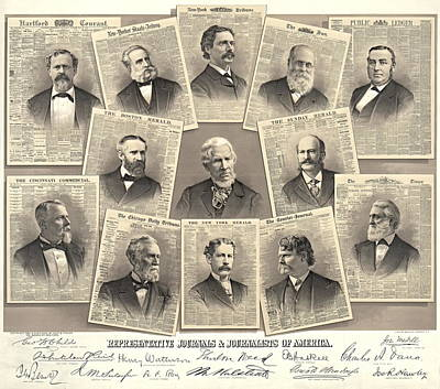 American Journalists 1882 Art Print