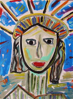 Mary Carol Art Drawing - American Lady by Mary Carol Williams