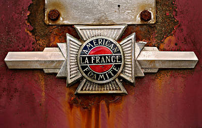 Photograph - American Lafrance Foamite Badge by Mary Jo Allen