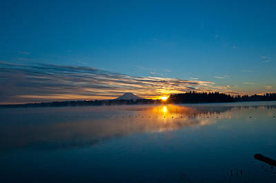 Photograph - American Lake Sunrise by Tikvah's Hope
