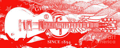 Guitar Mixed Media - American Legend Red by Jon Neidert