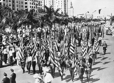 Legion Photograph - American Legion Parade by Underwood Archives