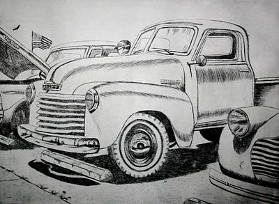 July Fourth Drawing - American Made by Stacy C Bottoms