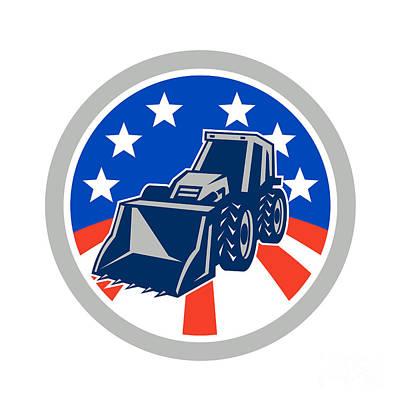 Landmarks Royalty Free Images - American Mechanical Digger Excavator Circle Royalty-Free Image by Aloysius Patrimonio