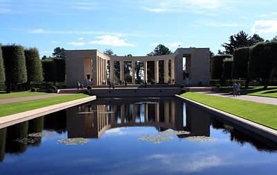 Fallen Soldier Photograph - American Memorial Normandy France by Aidan Moran