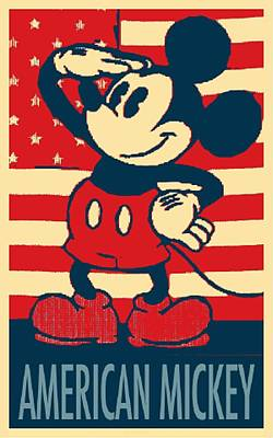 Mixed Media - American Mickey In Hope by Rob Hans