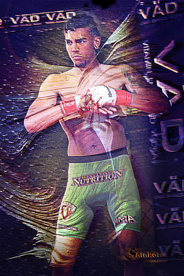 Cobra Mixed Media - American Mma Fighter - Andre Fili by Salakot