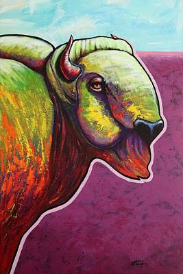 Bulls Painting - American Monarch by Joe  Triano