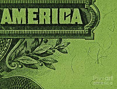 Photograph - American Money Art  by Chris Berry