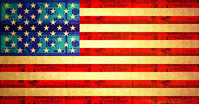American Money Flag Art Print