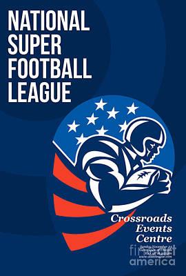 Tailback Digital Art - American National Super Football League Poster  by Aloysius Patrimonio