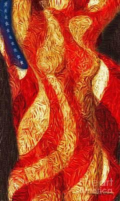 American Nude Art Print by Joseph J Stevens