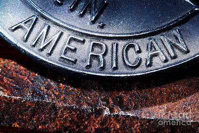 Words Background Photograph - American by Olivier Le Queinec
