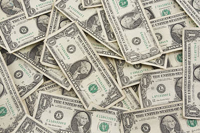Landmarks Royalty Free Images - American One Dollar Bills Royalty-Free Image by Keith Webber Jr