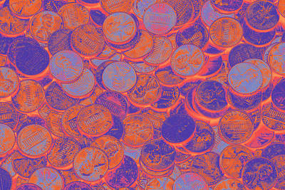 Photograph - American Pennies Pop Art by Keith Webber Jr