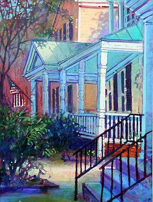 Painting - American Porch by Dan Nelson