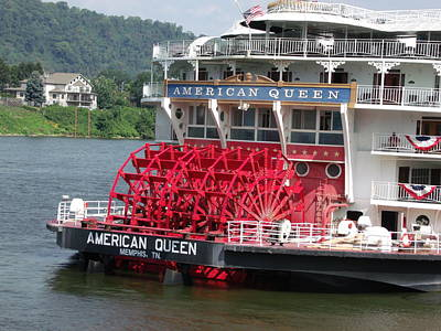 American Queen Paddlewheel Art Print by Willy  Nelson