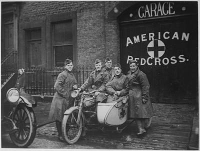 Rifle Photograph - American Red Cross In Great Britain by Celestial Images