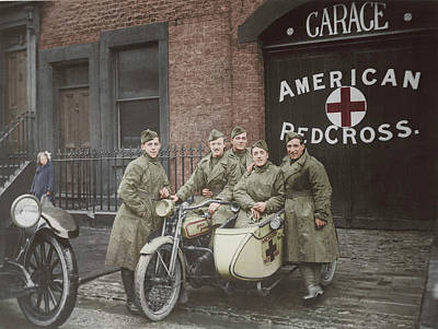 Photograph - American Red Cross Unit In Great by Stocktrek Images