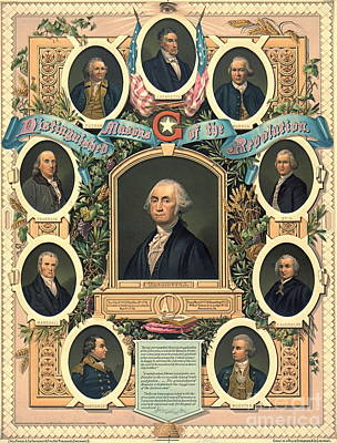 American Revolution Freemasons 1876 Art Print