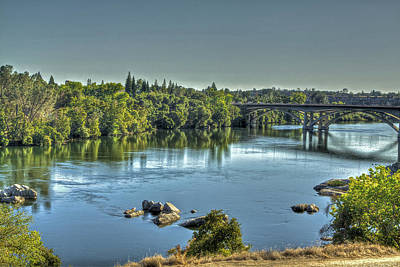 Photograph - American River by SC Heffner