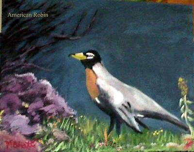 Painting - American Robin by M Bhatt
