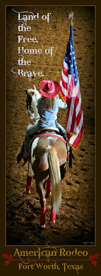 Cowboy Hat Photograph - American Rodeo - Fort Worth by Stephen Stookey