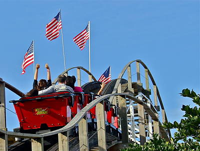 Photograph - American Roller Coaster by Denise Mazzocco