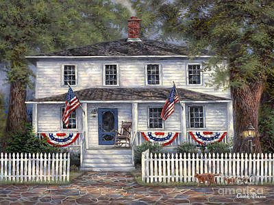 American Flag Painting - American Roots by Chuck Pinson