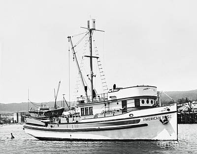 Vermeer Rights Managed Images - American Rose Purse seiner in Monterey Harbor 1948 Royalty-Free Image by California Views Archives Mr Pat Hathaway Archives