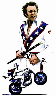American Roulette V  Evel Knievel Original by Iconic Images Art Gallery David Pucciarelli
