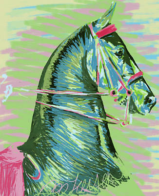 American Saddlebred Horse Digital Painting Art Print