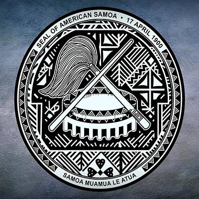 Staves Digital Art - American Samoa Seal by Movie Poster Prints