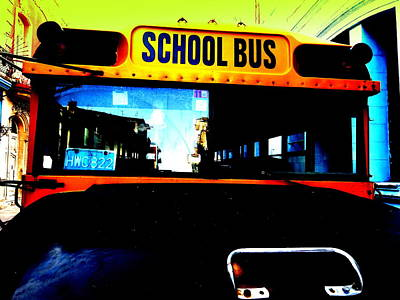 Landmarks Royalty Free Images - American School Bus in Cuba Royalty-Free Image by Funkpix Photo Hunter