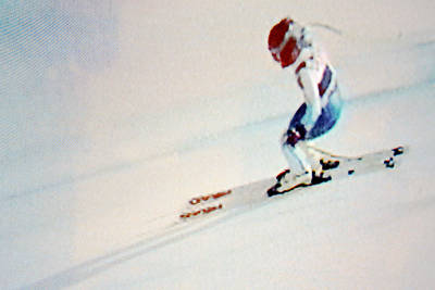 Red White And Blue Mixed Media - American Skier #15 by Gustave Kurz