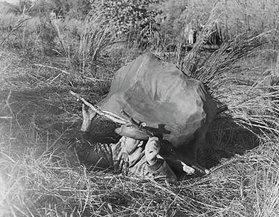 Papier Mache Photograph - American Soldier Emerging by Stocktrek Images