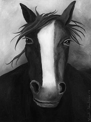 Betsy Ross Painting - American Spirit Bw by Leah Saulnier The Painting Maniac